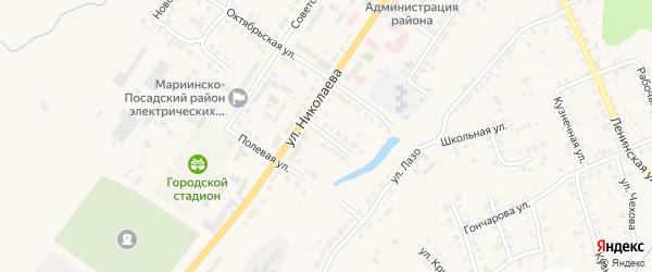 Майская улица на карте Мариинского Посада с номерами домов