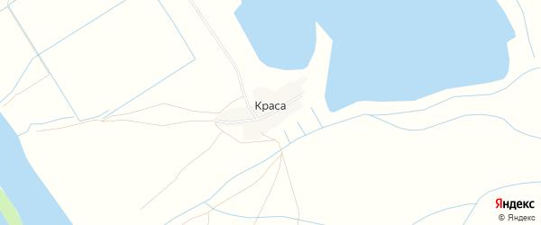 Карта села Красы в Астраханской области с улицами и номерами домов