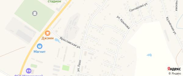 Северная улица на карте Мариинского Посада с номерами домов