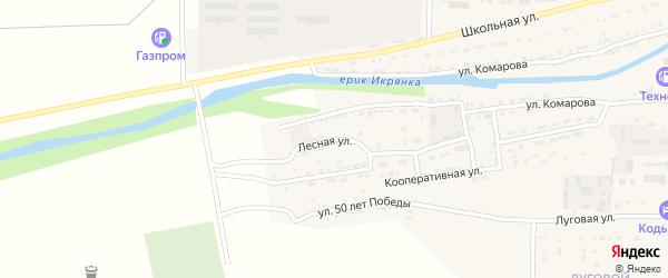 Лесная улица на карте Икряного села с номерами домов