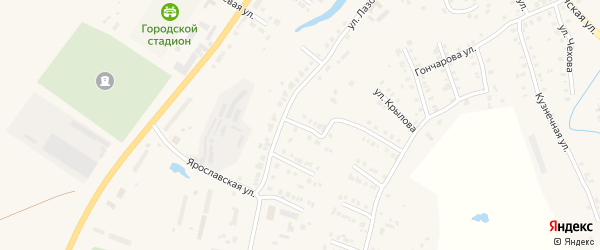 Улица Суворова на карте Мариинского Посада с номерами домов