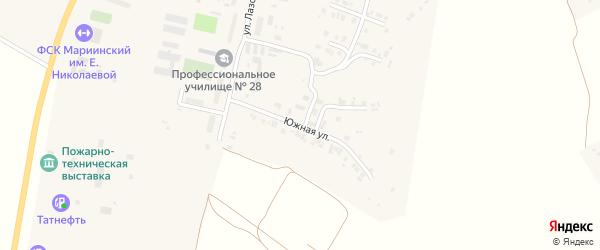 Южная улица на карте Мариинского Посада с номерами домов