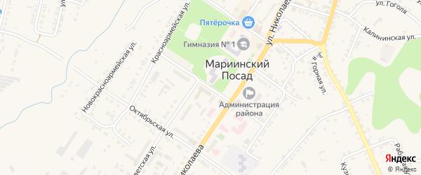 Больничная улица на карте Мариинского Посада с номерами домов