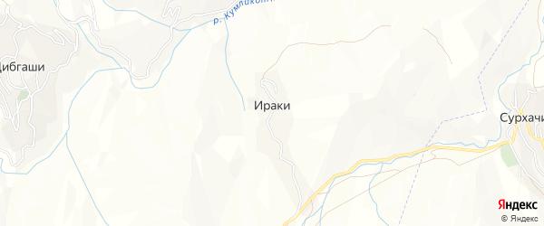 Карта села Ираки в Дагестане с улицами и номерами домов