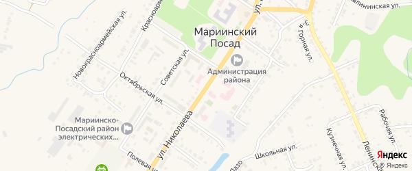 Улица Николаева на карте Мариинского Посада с номерами домов