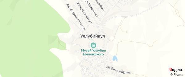 Карта села Уллубийаула в Дагестане с улицами и номерами домов