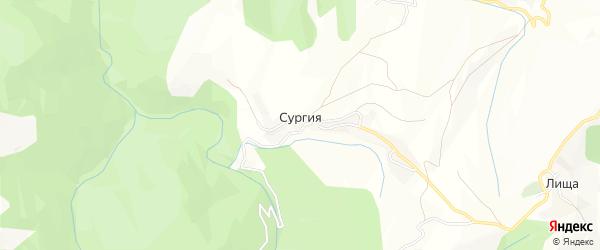 Карта села Сургии в Дагестане с улицами и номерами домов