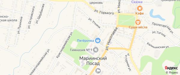 Июльская улица на карте Мариинского Посада с номерами домов