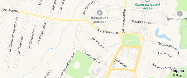 Улица Уткина на карте Мариинского Посада с номерами домов