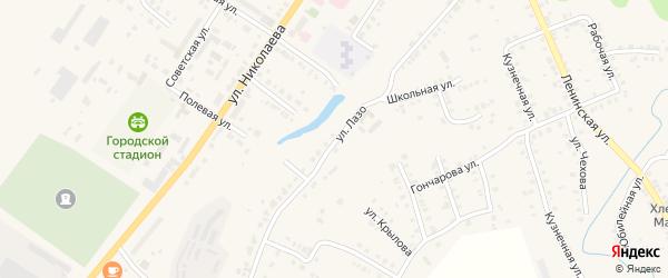 Улица Лазо на карте Мариинского Посада с номерами домов