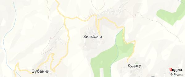 Карта села Зильбачей в Дагестане с улицами и номерами домов