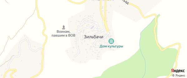 Улица Гагарина на карте села Зильбачей с номерами домов