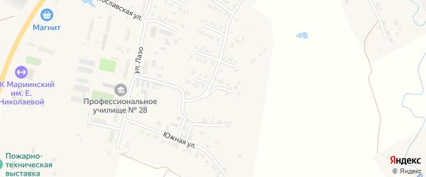 Волгоградская улица на карте Мариинского Посада с номерами домов