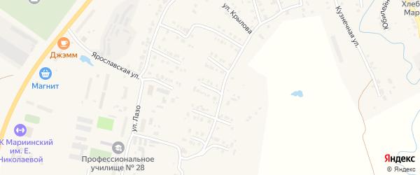 Улица Смольникова на карте Мариинского Посада с номерами домов