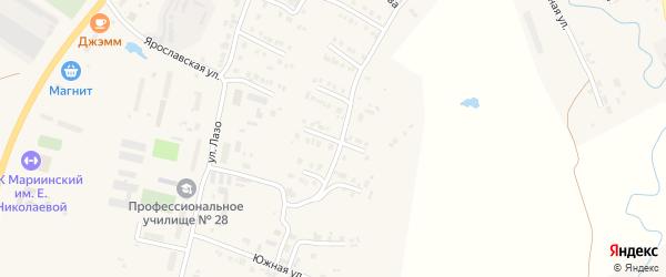 Улица Р.Гордеевой на карте Мариинского Посада с номерами домов