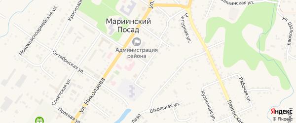 Садовая улица на карте Мариинского Посада с номерами домов