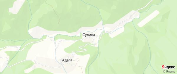 Карта села Сулипа в Дагестане с улицами и номерами домов