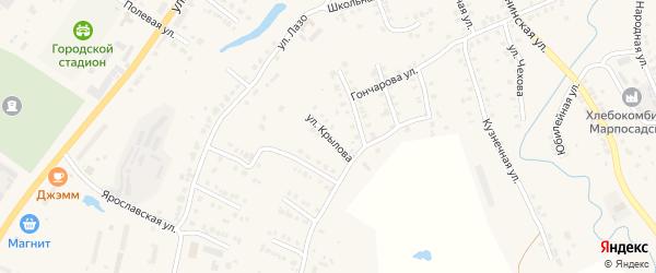 Улица Копылова на карте Мариинского Посада с номерами домов