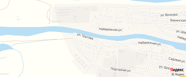 Улица Трусова на карте Икряного села с номерами домов