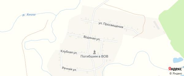 Водяная улица на карте деревни Первые Тойси с номерами домов