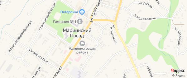 Борзовская улица на карте Мариинского Посада с номерами домов