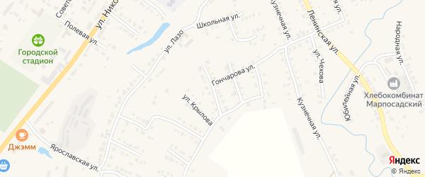 Улица Чайковского на карте Мариинского Посада с номерами домов