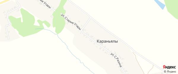 Улица Старые Утары на карте деревни Караньялы с номерами домов