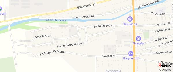 Кооперативная улица на карте Икряного села с номерами домов