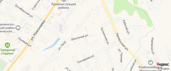 Школьная улица на карте Мариинского Посада с номерами домов