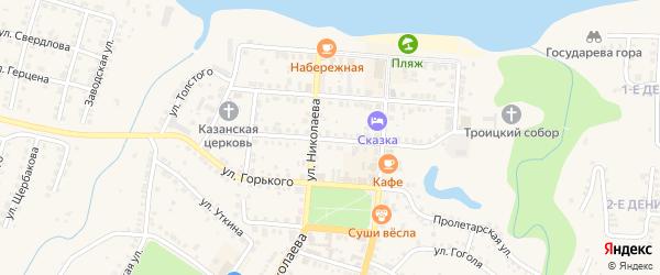 Казанская улица на карте Мариинского Посада с номерами домов