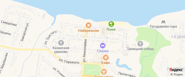 Московская улица на карте Мариинского Посада с номерами домов