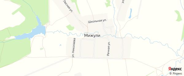 Карта деревни Мижули в Чувашии с улицами и номерами домов