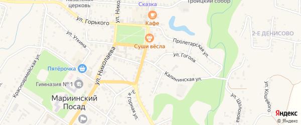 Калининская улица на карте Мариинского Посада с номерами домов
