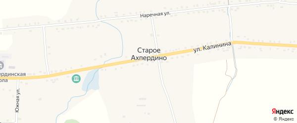 Восточный переулок на карте деревни Старое Ахпердино с номерами домов
