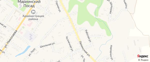 Улица З.Космодемьянской на карте Мариинского Посада с номерами домов