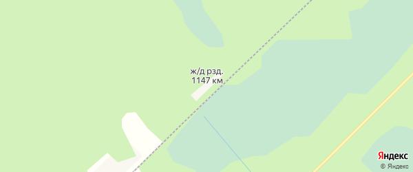 Карта железнодорожного разъезда 1147 км в Архангельской области с улицами и номерами домов