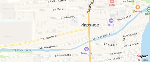 Школьная улица на карте Икряного села с номерами домов