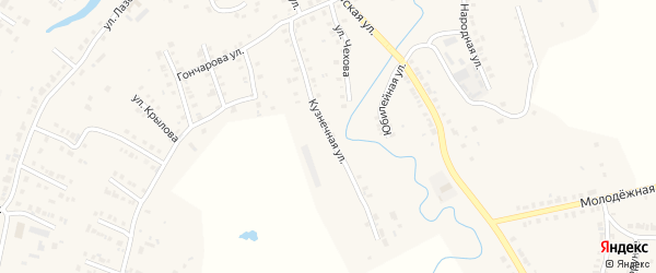 Кузнечная улица на карте Мариинского Посада с номерами домов