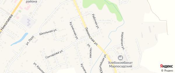 Красная улица на карте Мариинского Посада с номерами домов
