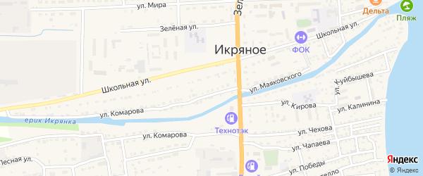 Гаражная улица на карте Икряного села с номерами домов