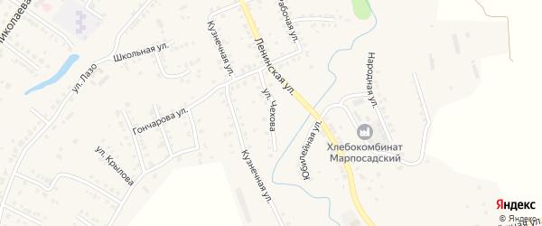 Улица Чехова на карте Мариинского Посада с номерами домов