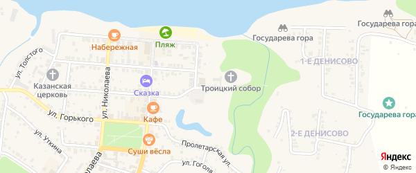 Волжская улица на карте Мариинского Посада с номерами домов