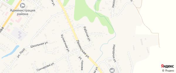 Рабочая улица на карте Мариинского Посада с номерами домов