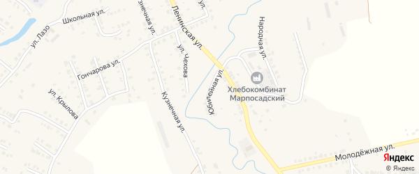 Юбилейная улица на карте Мариинского Посада с номерами домов