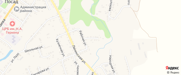 Пионерская улица на карте Мариинского Посада с номерами домов