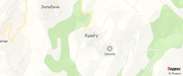 Карта села Кудагу в Дагестане с улицами и номерами домов