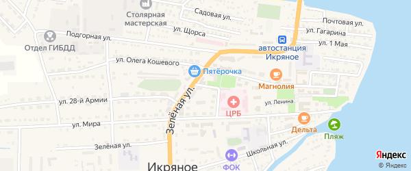 Переулок О.Кошевого на карте Икряного села с номерами домов