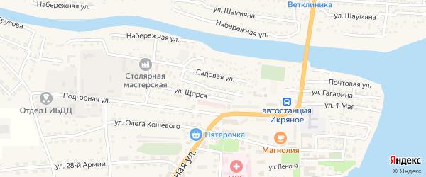 Улица М.Горького на карте Икряного села с номерами домов