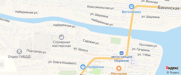 Улица Жданова на карте Икряного села с номерами домов
