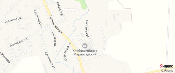 Народная улица на карте Мариинского Посада с номерами домов